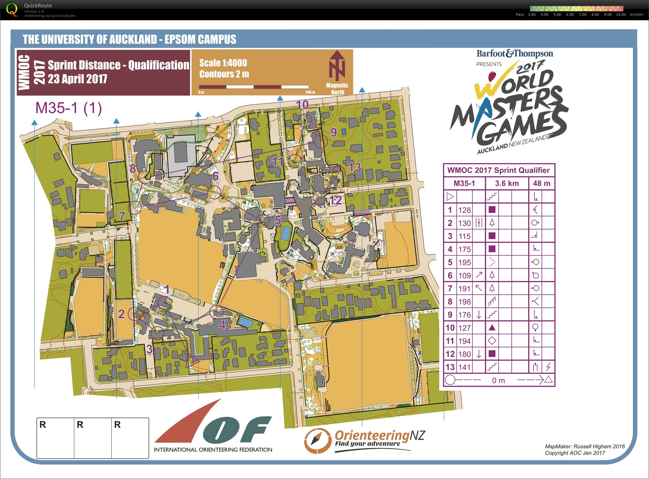 WMOC Sprint Qualifikation (Teil 1) (23.04.2017)