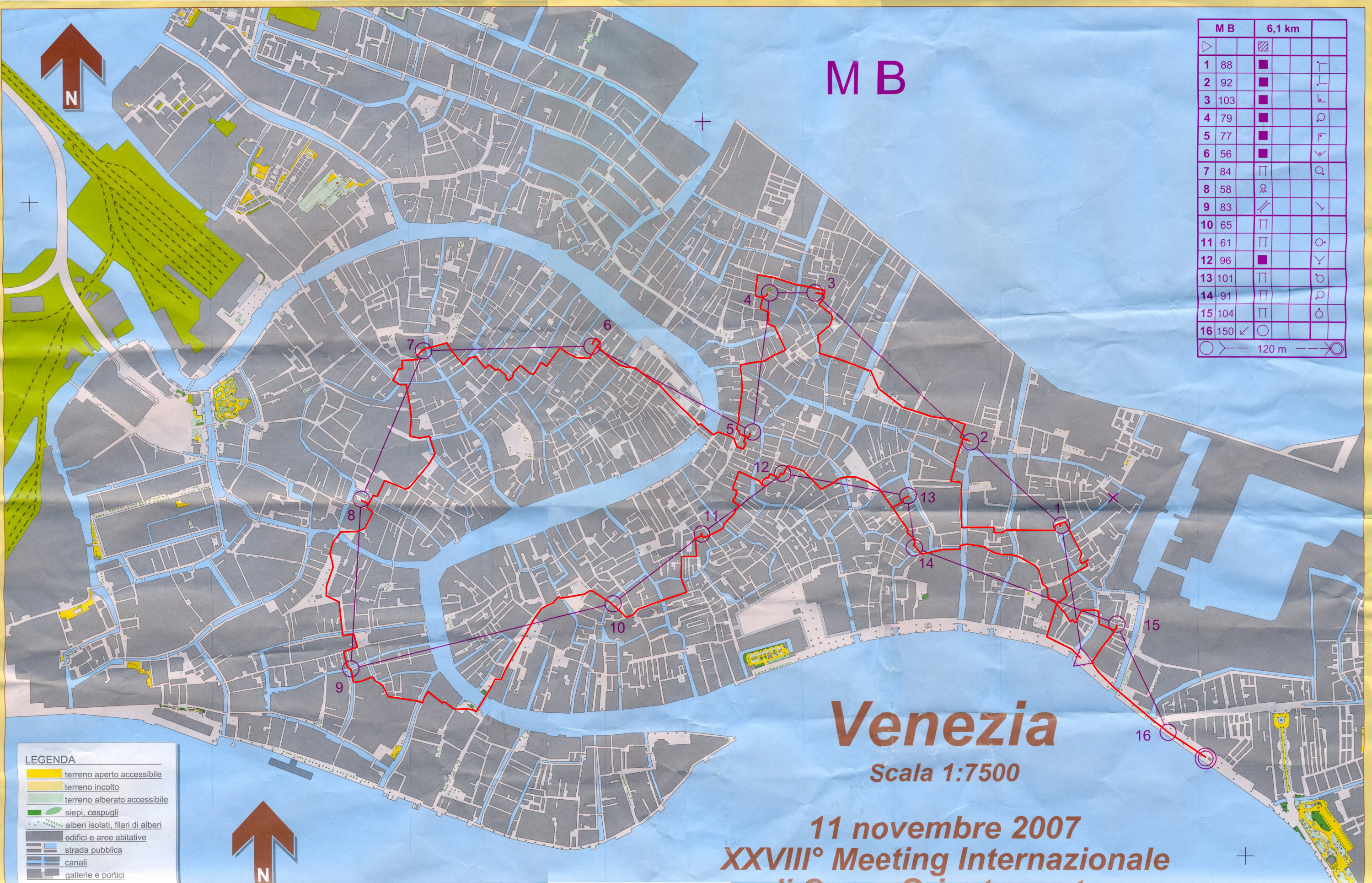 Venice Orienteering Meeting (11.11.2007)